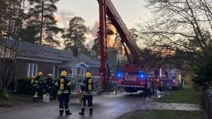 Brand i småhus i Vårberga i Borgå 11.10.20