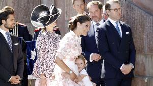 40-åriga prinsessan Victoria firades i Stockholm den 14 juli 2017.
