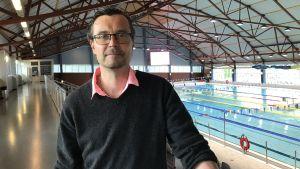 Mika Lehtonen, chef för idrottsverksamheten på Vasa stad.