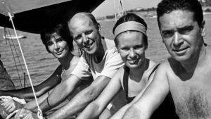 Annusca Palme, Göran Schildt, Christine Werthmann och Roberto Sambonet år 1963.