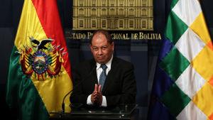 Bolivias inrikesminister Carlos Romero.