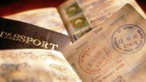 Stämplat amerikanskt pass.