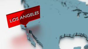 Kareta i 3D med Los Angeles utmärkt