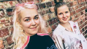 Taika Mannila och Emilia Hoving