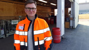 Informatör Pia Grankvist på Ekorosk.