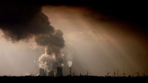 Kolkraftverk nära Bergheim i Tyskland i mars 2012