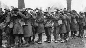 Brittiska trupper förblindade av tårgas 10 April 1918
