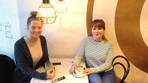 Mikaela Mäkelä och Felicia Söderlund
