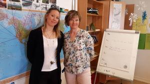 Linda Vikman och Carina Aurén.