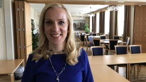 Porträtt på Sandra Bergqvist.