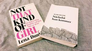 Böckerna Not that kind of girl av Lena Dunham och Närhelst hon kommer av Jolin Slotte.