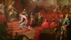 Angelo Trevisani: Allegori över drottning Kristinas underkastelse inför katolska kyrkan och påven Alexander VII