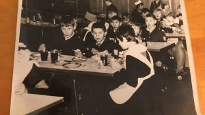 Bild på matsalen som fanns i Tanjas barnhem.
