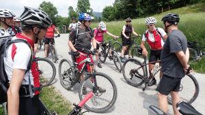 Cyklister i Slovenien.
