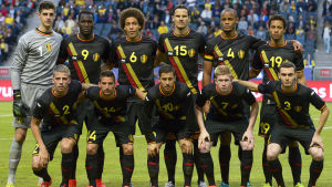 Belgiens fotbollslandslag i juni 2014 vs Sverige.
