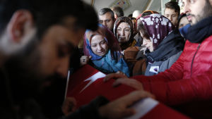 Ett av offren från nattklubbsattacken i Istanbul den 1.1.2017 begravs.