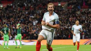 Harry Kane firar ett mål.