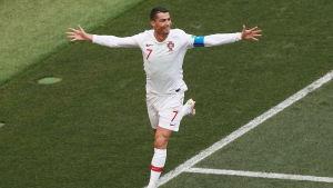 Cristiano Ronaldo firar sitt tidiga segermål.