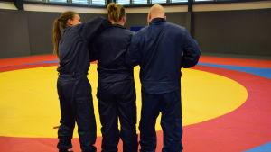 Fysisk träning vid polisyrkeshögskolan.