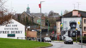 Bogside i Londonderry domineras av katoliker. Här inträffade också Bloody Sunday.