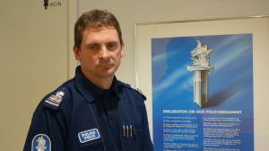 Kjell Nylund är ansvarig för den svenskspråkiga polisutbildningen vid Polisyrkeshögskolan i Tammerfors.
