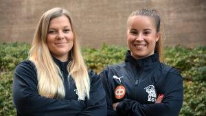 Poträttbild på Sofia Lindqvist och Cecilia Wikstedt.