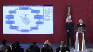 Mexikos president på presskonferens