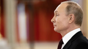 Rysslands president Vladimir Putin i profil.