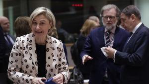 Södra Belgiens dvs Flanderns finansminister Hilde Crevits i Bryssel 2019.