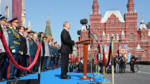 President Putin talade vid Röda Torget