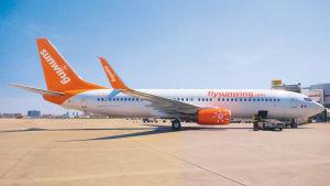 Ett Boeing 737-plan från Sunwing Airlines.