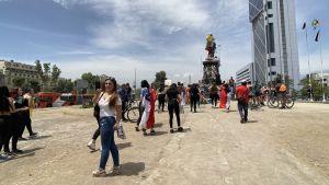 Demonstrationer i Santiago, Chile