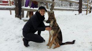 Sofia Kuula är djurvän men lider samtidigt av ormfobi.