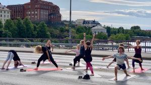 yoga på Hagnäs bro 29.7.19