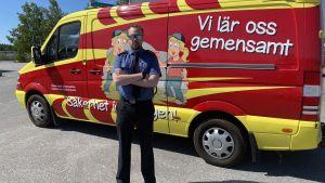 Brandingenjör Linus Östman.