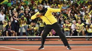 Usain Bolt poserar.