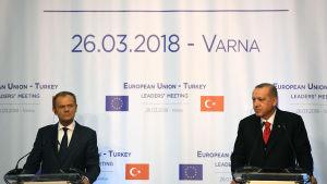 Ansträngda relationer mellan EU och Turkiet