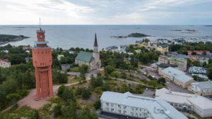 Flygbild över Hangö.