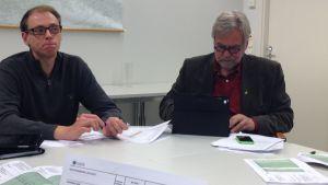 Anders Walls och Mårten Johansson är fokuserade på budgeten för år 2015