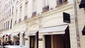 31 rue Cambon där Coco Chanel bodde och hade soin butik och ateljé.