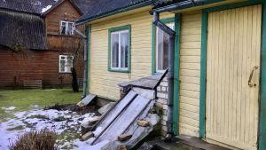 Ett egnahemshus i den estniska staden Rakke.