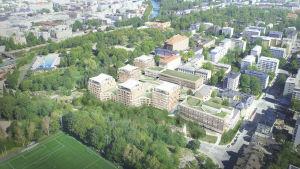 En arkitekts vision över Smedsgatan vid Samppalinnabacken