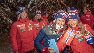 Norska längdlandslaget under Tour de Ski.