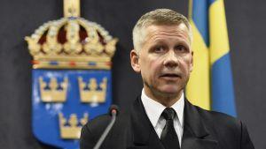 Kommendör Jonas Wikström, svenska Försvarsmaktens operationsledare.