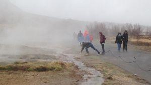 Turisterna på Island bidrar till att naturen tar skada.