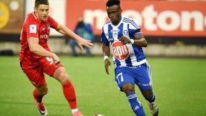 Evans Mensah blev två måls skytt för HJK