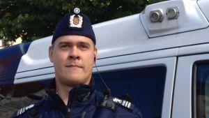 Teemu Metsäpelto vid Helsingforspolisen.