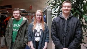 Anton Mattfolk, sofie andersson och Isak Rak från Bil 15, åk 1 vid Optima