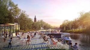 Vision över hur kvartert kring Domkyrkan i Åbo kan se ut i framtiden.