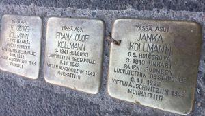 Snubbelstenarna utanför Munsknäs allén 18 B.